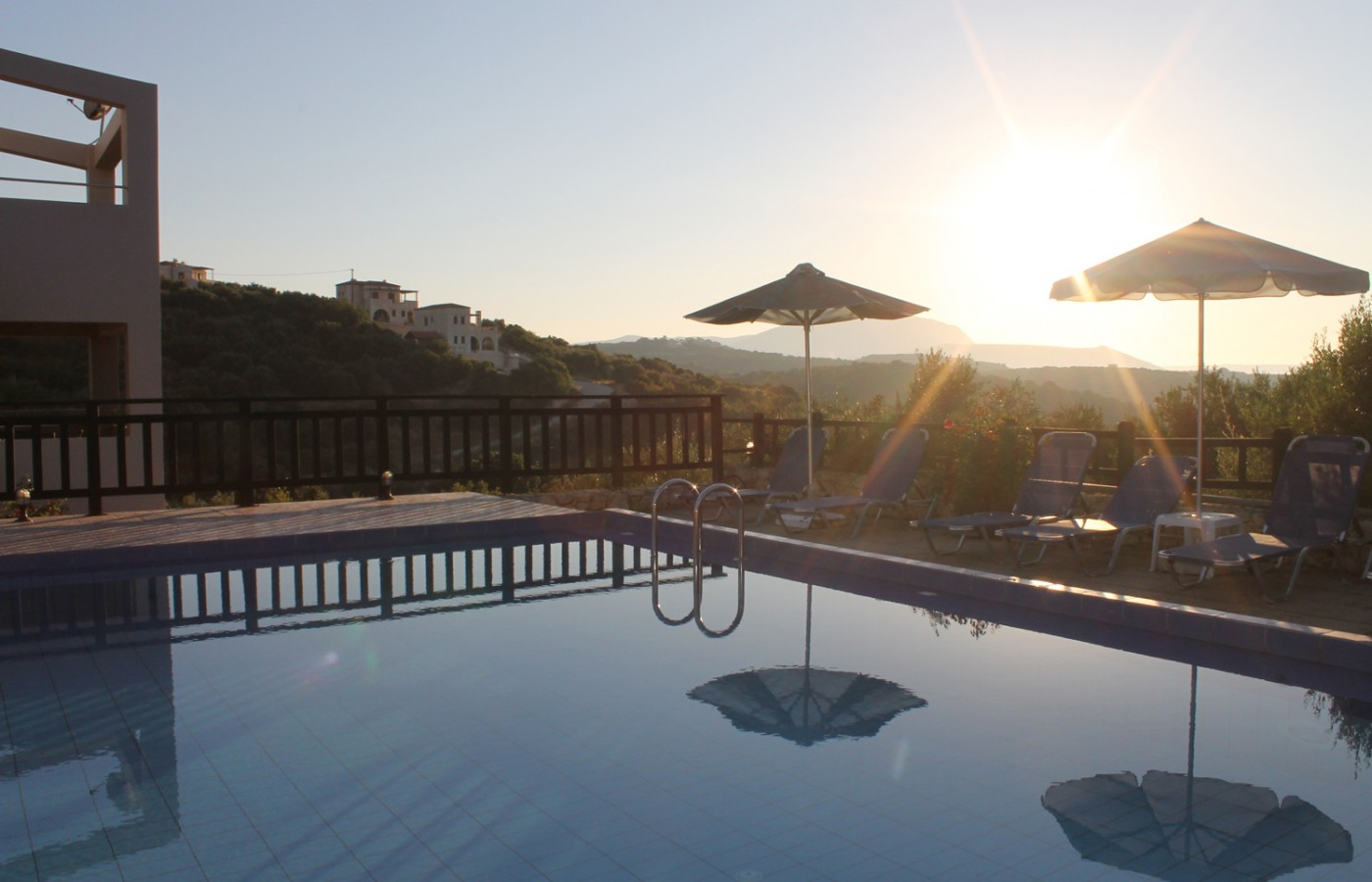 pool of villas almirida - Villas-Almyrida - The best Almyrida beach view